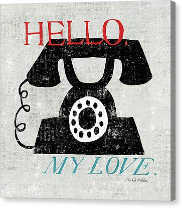 Vintage Desktop - Phone Canvas Print by Michael Mullan