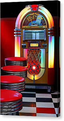 Vintage Diner Canvas Print by Nikolyn McDonald