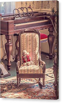 Vintage Doll In Parlor Canvas Print by Edward Fielding