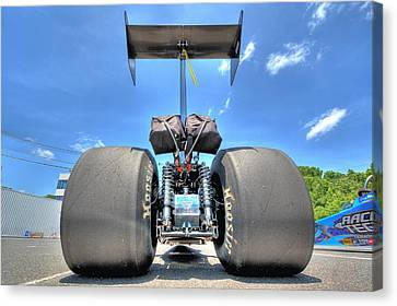 Canvas Print featuring the photograph Vintage Drag Racer by Gianfranco Weiss