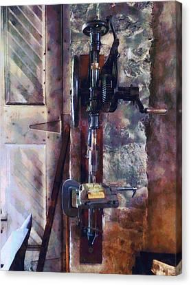 Vintage Drill Press Canvas Print by Susan Savad
