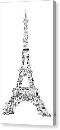 Victorian Canvas Print - Vintage Eiffel Tower by Marion De Lauzun