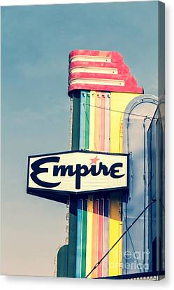Vintage Empire Theater Sign Canvas Print by Edward Fielding