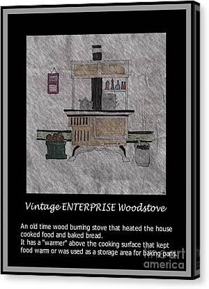 Vintage Enterprise Woodstove Canvas Print by Barbara Griffin