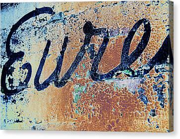 Canvas Print featuring the photograph Vintage Eureka by Steven Bateson
