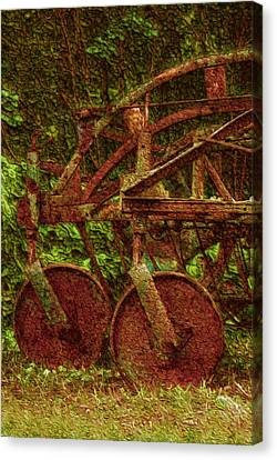 Vintage Farm Equipment Canvas Print by Jack Zulli