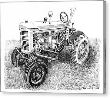 Vintage Farmall  I H W 6 Tractor Canvas Print by Jack Pumphrey