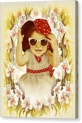 Vintage Fashion Girl Canvas Print by Irina Sztukowski