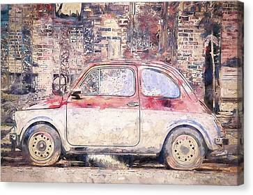Vintage Fiat 500 Canvas Print by Scott Norris
