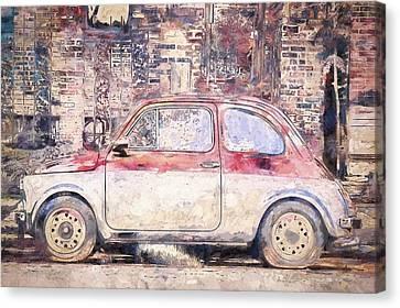 Vintage Fiat 500 Canvas Print