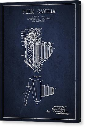 Vintage Film Camera Patent From 1948 Canvas Print by Aged Pixel