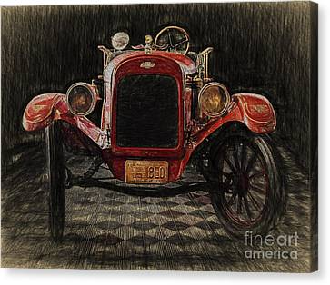 Vintage Fire Truck  ... Canvas Print by Chuck Caramella