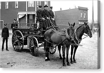 Vintage Fire Wagon Canvas Print