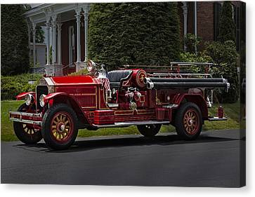 Antique Automobiles Canvas Print - Vintage Firetruck by Susan Candelario