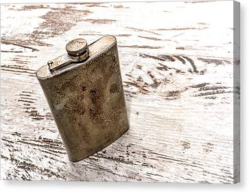 Canteen Canvas Print - Vintage Flask by Olivier Le Queinec