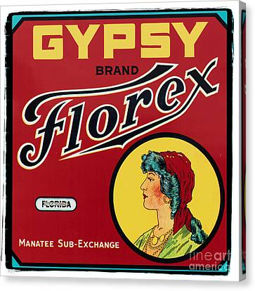 Vintage Sign Canvas Print - Vintage Florida Food Signs 2 - Gypsy Florex Brand - Square by Ian Monk