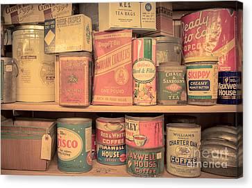 Vintage Food Pantry Canvas Print by Edward Fielding