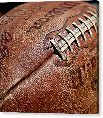 Vintage Football Canvas Print by Art Block Collections