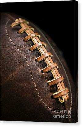 Vintage Football Canvas Print by Diane Diederich