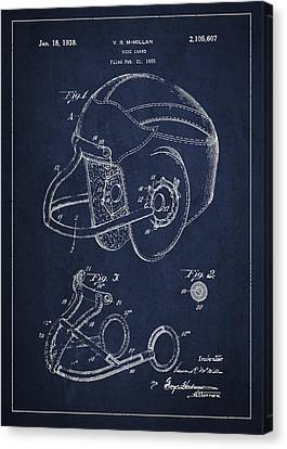 Vintage Football Helment Patent Drawing From 1935 Canvas Print
