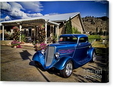 Vintage Ford Coupe At Oliver Twist Winery Canvas Print