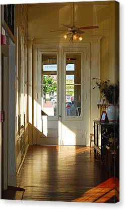 Schmid Canvas Print - Vintage Foyer Filled With Light - The Ant Street Inn by Connie Fox
