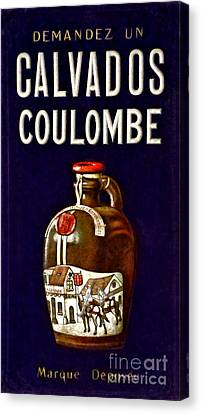 Vintage French Poster Calvados Coulombe Canvas Print by Olivier Le Queinec