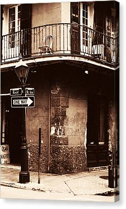 Vintage French Quarter Canvas Print by John Rizzuto