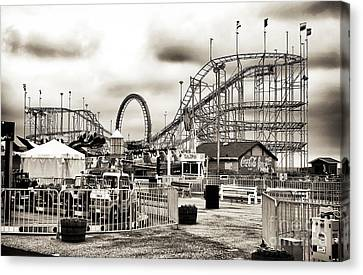Vintage Funtown Canvas Print by John Rizzuto