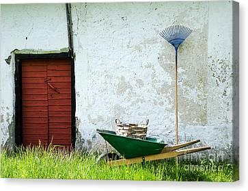 Canvas Print featuring the photograph Vintage Garden Equipment by Kennerth and Birgitta Kullman