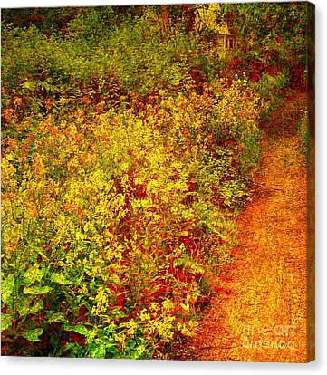 Canvas Print featuring the photograph Vintage Garden Path by Terri Gostola