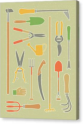 Vintage Garden Tools Canvas Print