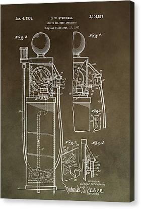 Vintage Gas Pump Patent Canvas Print by Dan Sproul