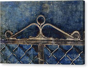 Vintage Gate - Fence - Chain Link - Texture - Abstract Canvas Print by Andee Design