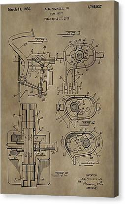 Floor Canvas Print - Vintage Gear Shift Patent by Dan Sproul