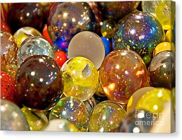 Vintage Glass Marbles Canvas Print