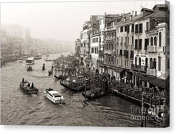 Vintage Grand Canal Transportation Canvas Print by John Rizzuto