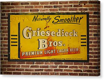 Vintage Griesedieck Bros Beer Dsc07192 Canvas Print by Greg Kluempers
