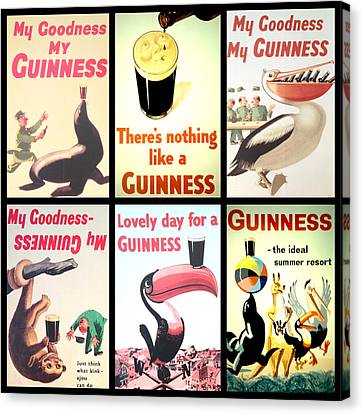 Patrick Canvas Print - Vintage Guinness  by Georgia Fowler