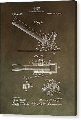 Vintage Hammer Patent Canvas Print by Dan Sproul