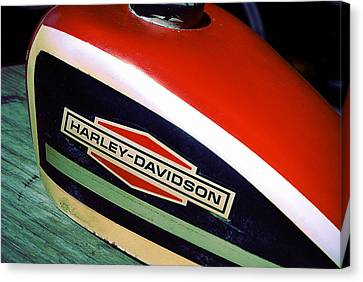 Vintage Harley Davidson Gas Tank Canvas Print by Beverly Stapleton