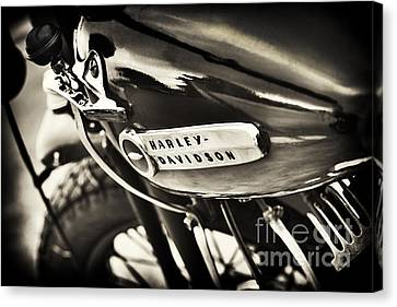 Vintage Harley Davidson Sepia  Canvas Print by Tim Gainey