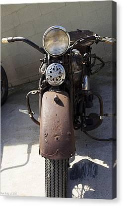 Vintage Harley Canvas Print by Nick Kirby