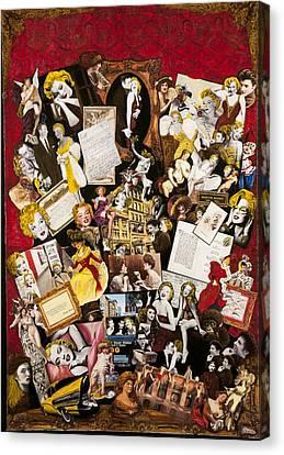 Ephemera Canvas Print - Marilyn Monroe Vintage Hollywood Collection by Jonell Restivo