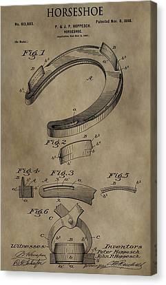 Vintage Horseshoe Patent Canvas Print by Dan Sproul