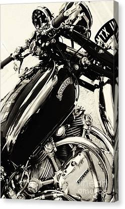 Vintage Hrd Vincent Series C Black Shadow Canvas Print by Tim Gainey