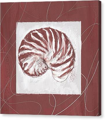 Vintage Hues- Marsala Pantone 18-1438 Canvas Print by Lourry Legarde