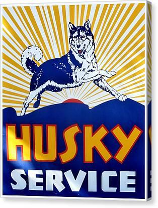 Vintage Husky Sign Canvas Print
