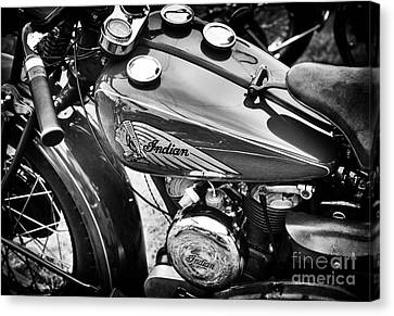 Vintage Indian Motorcycle Canvas Print by Tim Gainey
