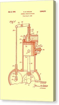 Vintage Internal Combustion Engine Patent 1940 Canvas Print by Mountain Dreams